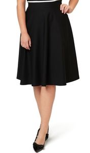 Union Made Vintage A-line Black Mini Skirt